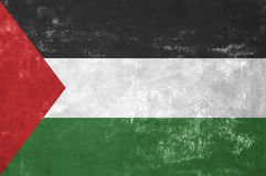 Palestinian Flag. Palestine - Palestinian Flag on Old Grunge Texture Background royalty free stock images