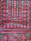 Palestinian embroidered wall hanging - red Stock Images