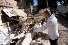 Palestinian Home Demolished in East Jerusalem Stock Photos