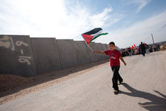 Palestinian Nonviolent Activism Stock Photo