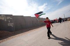 Palestinian Nonviolent Activism Stock Photo
