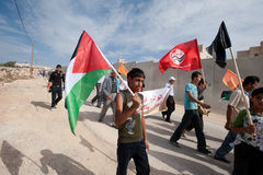 Palestinian Nonviolent Activism Royalty Free Stock Photo