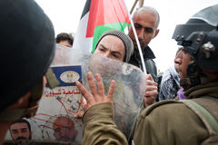 Palestinian nonviolent activism Royalty Free Stock Images