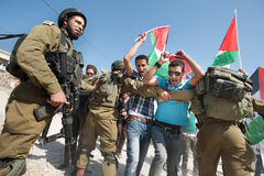 Palestinian nonviolent activism Stock Photography