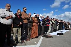 Palestinian People Praying Stock Photo