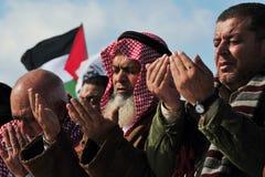 Palestinian People Praying Royalty Free Stock Photo