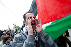 Palestinian protest Royalty Free Stock Image