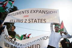 Palestinian protest Stock Image