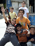 Palestinian  Refugee Boys Royalty Free Stock Photos