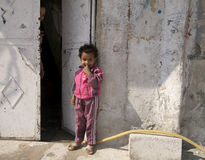 Palestinian Refugee Girl Stock Image