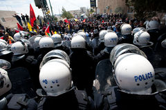 Palestinian riot police Stock Image