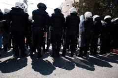 Palestinian riot police Stock Photos