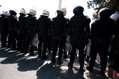 Palestinian riot police Royalty Free Stock Photography