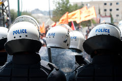 Palestinian riot police Royalty Free Stock Photos