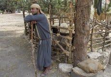 Palestinian shepherd Royalty Free Stock Photography