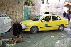Palestinian taxi Royalty Free Stock Photography
