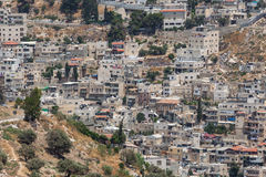 Palestinian town near Jerusalem. Royalty Free Stock Image