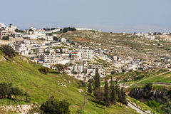 Palestinian town on suburb of Jerusalem. Royalty Free Stock Photo