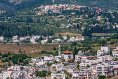 Palestinian village on the hills in Israel. Royalty Free Stock Images