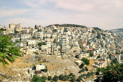 Palestinian village on the slopes of Jerusalem, Israel. Royalty Free Stock Photo