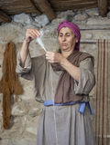 Palestinian weaver Stock Image