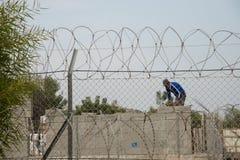 Palestinian worker in Israeli settlement Royalty Free Stock Photo