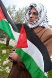 Palestinians pray against Israeli wall Stock Image