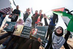 Palestinians protest Barack Obama Royalty Free Stock Photo
