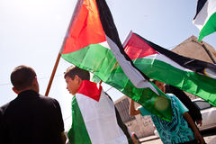 Palestinians protest in East Jerusalem Royalty Free Stock Photos