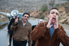 Palestinians Protest Israeli Wall Royalty Free Stock Image