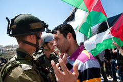 Palestinians protest Israeli wall Royalty Free Stock Photography