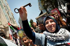 Palestinians rally to commemorate Nakba Day Stock Photos