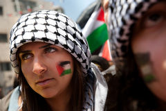Palestinians rally to commemorate Nakba Day Royalty Free Stock Photo