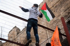 Palestinsk demonstration arkivbilder