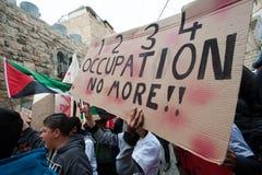 Palestinsk demonstration Arkivfoton