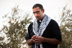 Palestinsk kristen präst royaltyfria foton