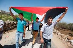 Palestinsk protest Royaltyfria Foton