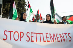 palestinsk protest Arkivbild