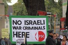 Palestinsk protest i London, England Arkivfoto