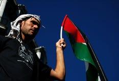 palestinsk supporter Arkivbild