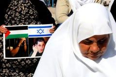 Palestinska fångar arkivbild