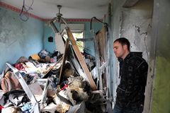 Palestinska raketattacker på Israel Fotografering för Bildbyråer