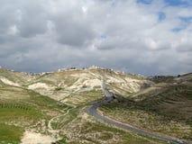 Palestinska territoriernalandskap i en bred panorama fotografering för bildbyråer