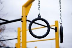 Palestra all'aperto per l'allenamento e la ginnastica della via Fotografia Stock