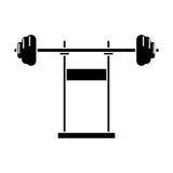 Palestra di forma fisica dell'attrezzatura del bilanciere del peso del pittogramma royalty illustrazione gratis