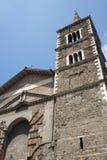 Palestrina (Rome) - de voorzijde van de Kathedraal royalty-vrije stock foto