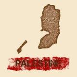 Palestyna martwił mapę ilustracja wektor