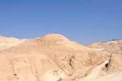 Palestyna ` s deser Widok od Izrael ` s strony Zdjęcia Stock