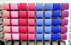 Palet bij kosmetische winkel r Royalty-vrije Stock Foto