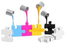 Palet CMYK Stock Afbeeldingen